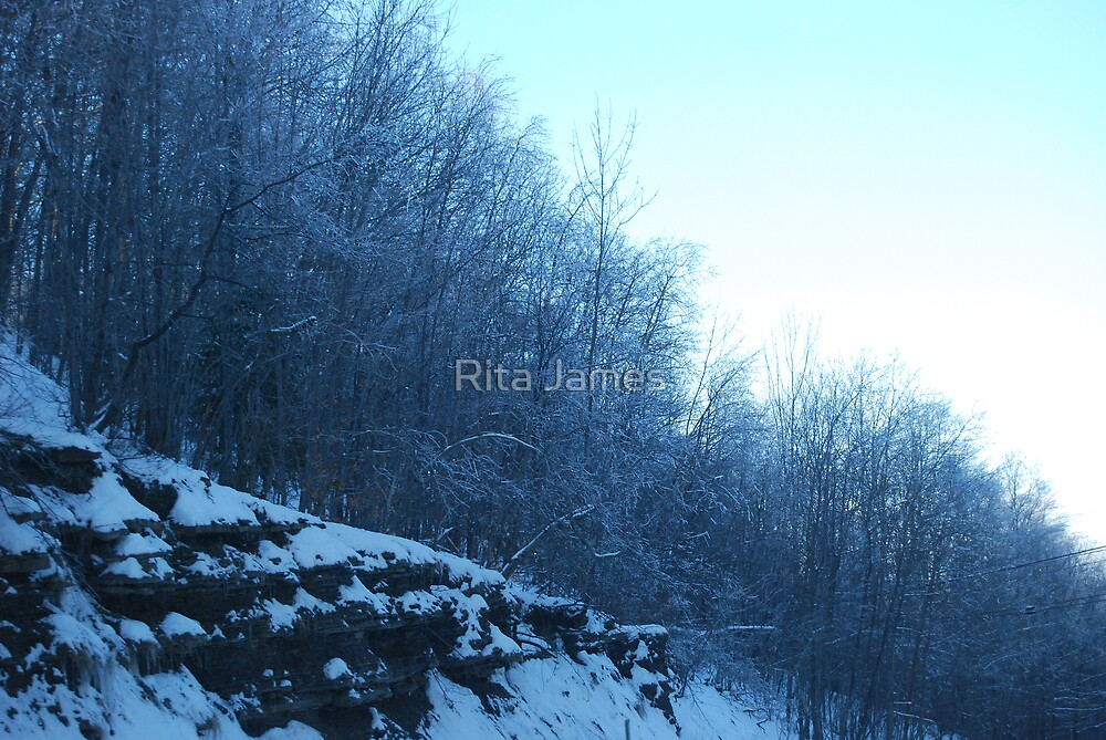 Icy Downhill View by Rita James