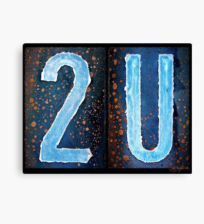 2U Canvas Print