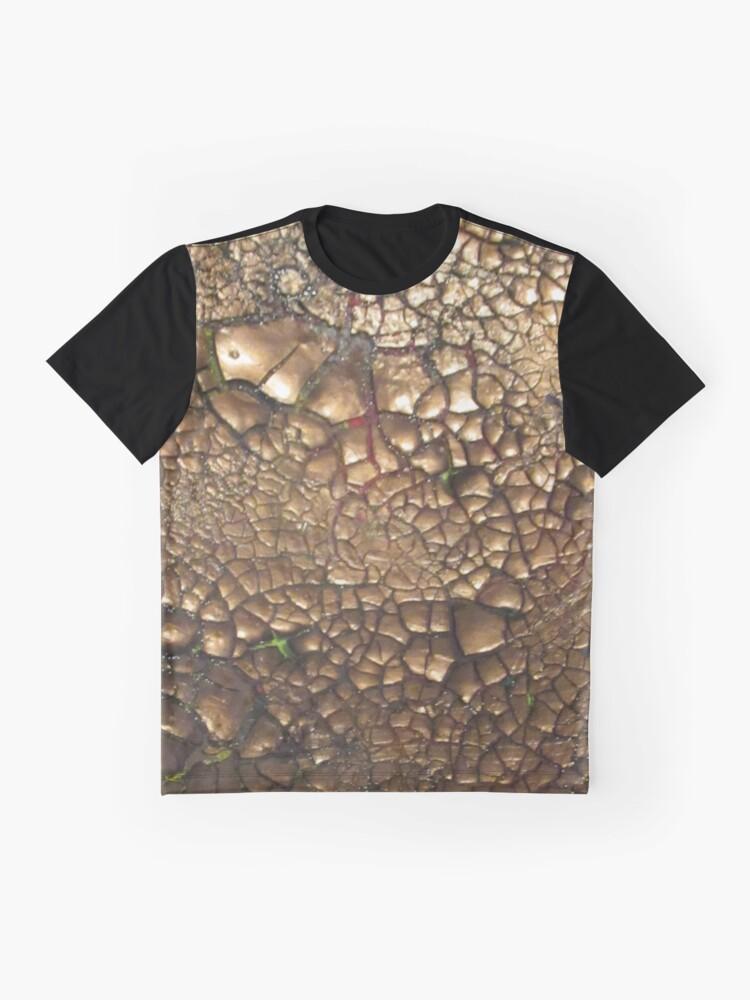 Alternative Ansicht von Experimentell - Earth - Edelsteine - Smaragde - Sand Grafik T-Shirt