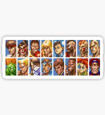 Super Street Fighter II - Avatars Sticker