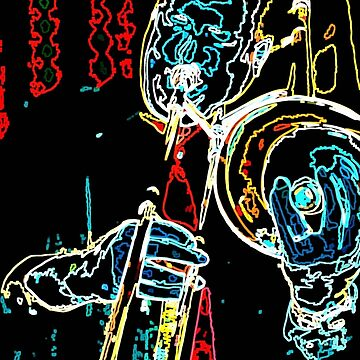 Neon Waves of Jazz Trombone by BLynnBly