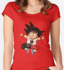 bathing ape x goku Women's Fitted Scoop T-Shirt