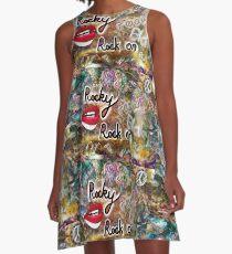 graffiti wall A-Line Dress