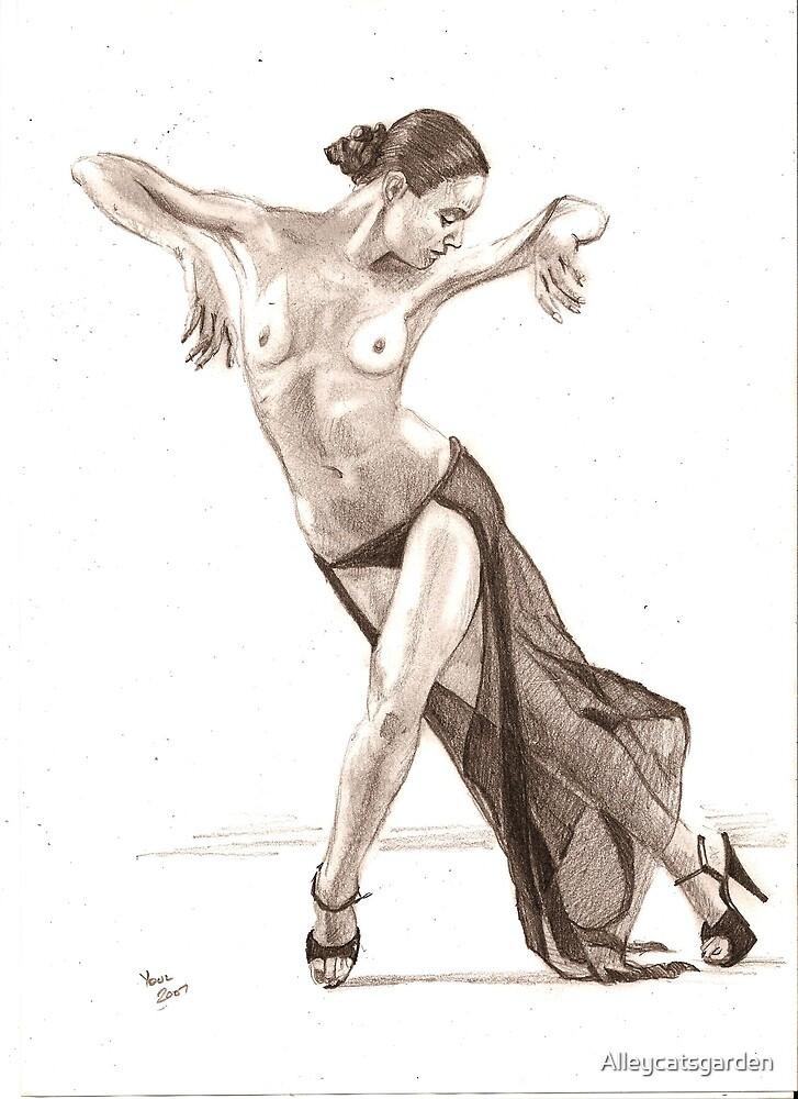 dancing nude by Alleycatsgarden