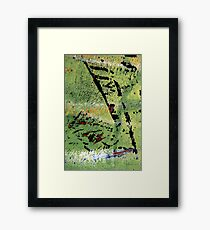 Green Piece Framed Print