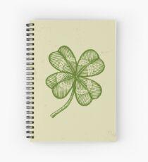 Vintage lucky clover Spiral Notebook