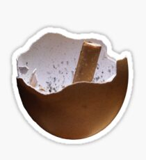 Eggshell Ashtray Sticker