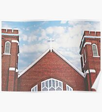 Red Brick Church Poster