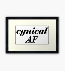 Cynical AF Framed Print