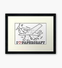 i love papercraft Framed Print
