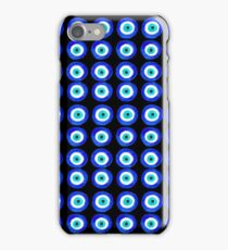 Evil Eye Talisman for Protection - on black iPhone Case/Skin