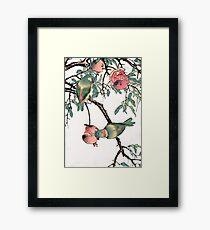 Pomegranate and Lovebirds Framed Print