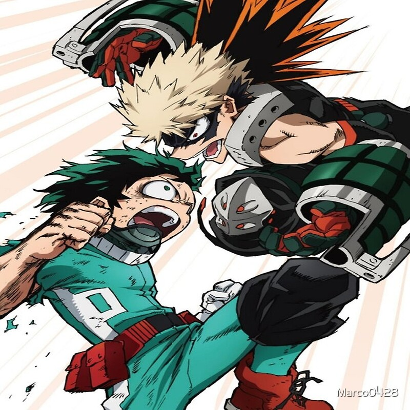 """Deku & Bakugo Boku No Hero Academy Battle"" Canvas Prints ..."