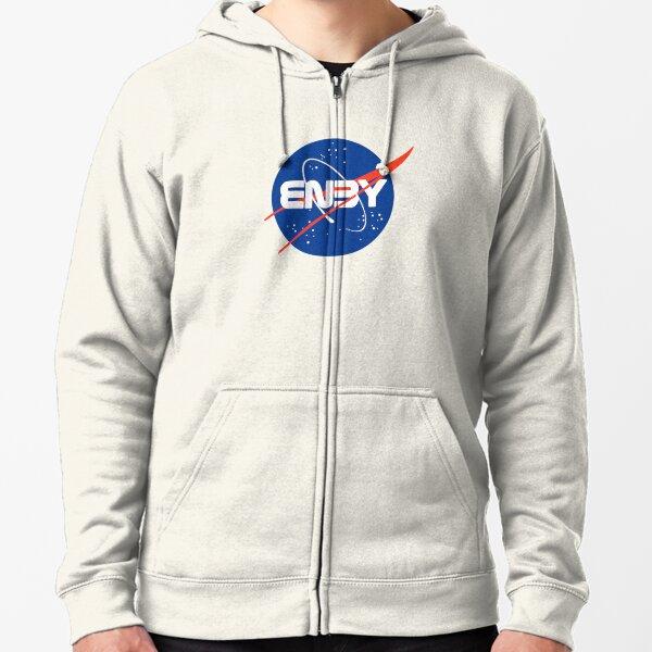 """""""Enby"""" - Logo non-binaire inspiré de la NASA Veste zippée à capuche"""