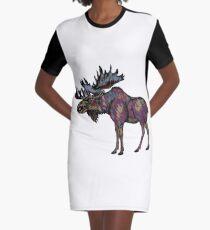 In die Wildnis T-Shirt Kleid
