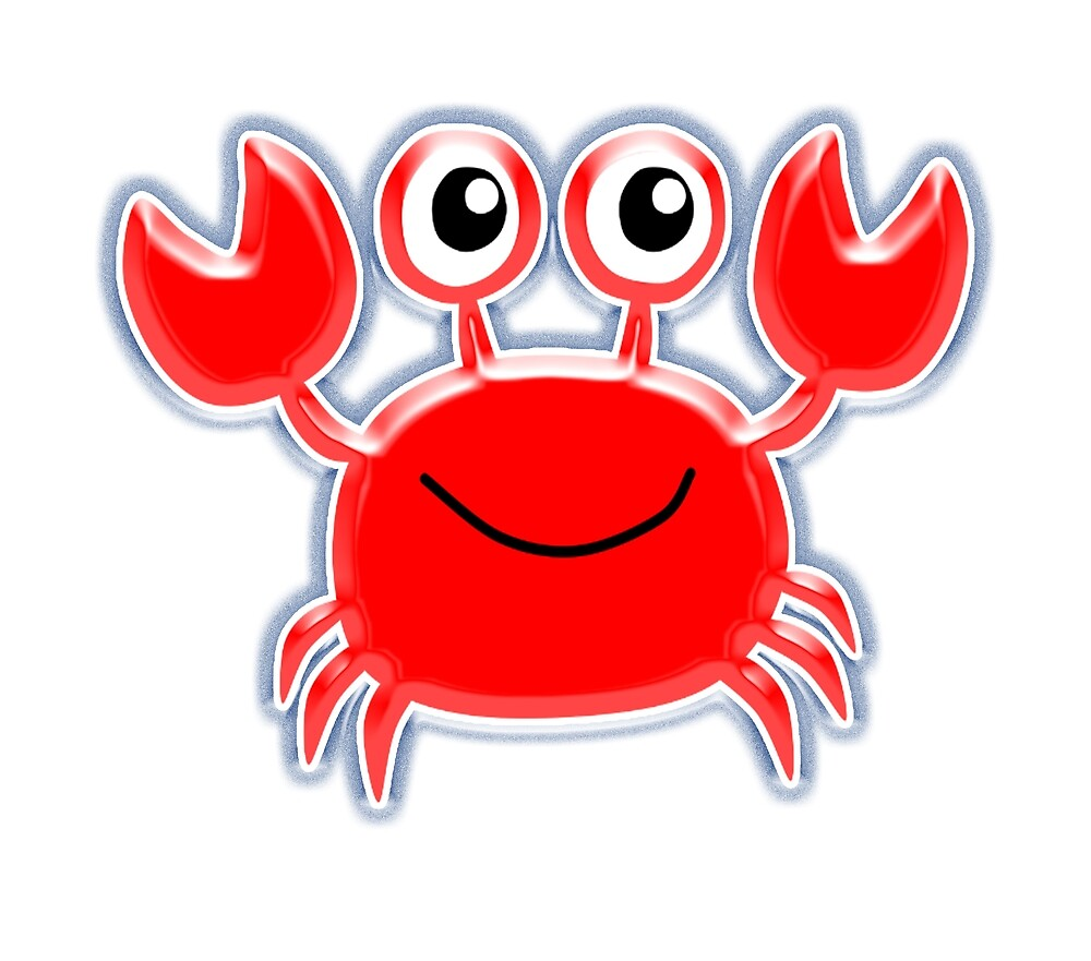 """CRAB, Red Crab, Sea Life, Cartoon"" by TOM HILL"
