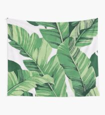 Tropical banana leaves III Wall Tapestry