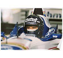 Damon Hill - Racing Driver Poster