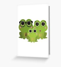 Frog Family Greeting Card