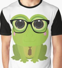 Frog Nerd Graphic T-Shirt