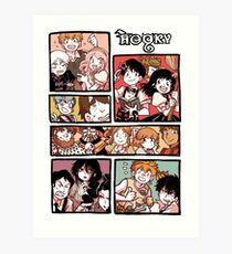 Hooky Comic Page Color Art Print