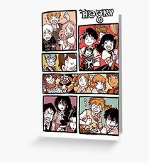 Hooky Comic Page Color Greeting Card