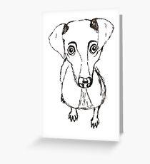 Simplistic Dog Greeting Card