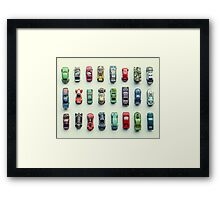 Toy Car Collection Framed Print