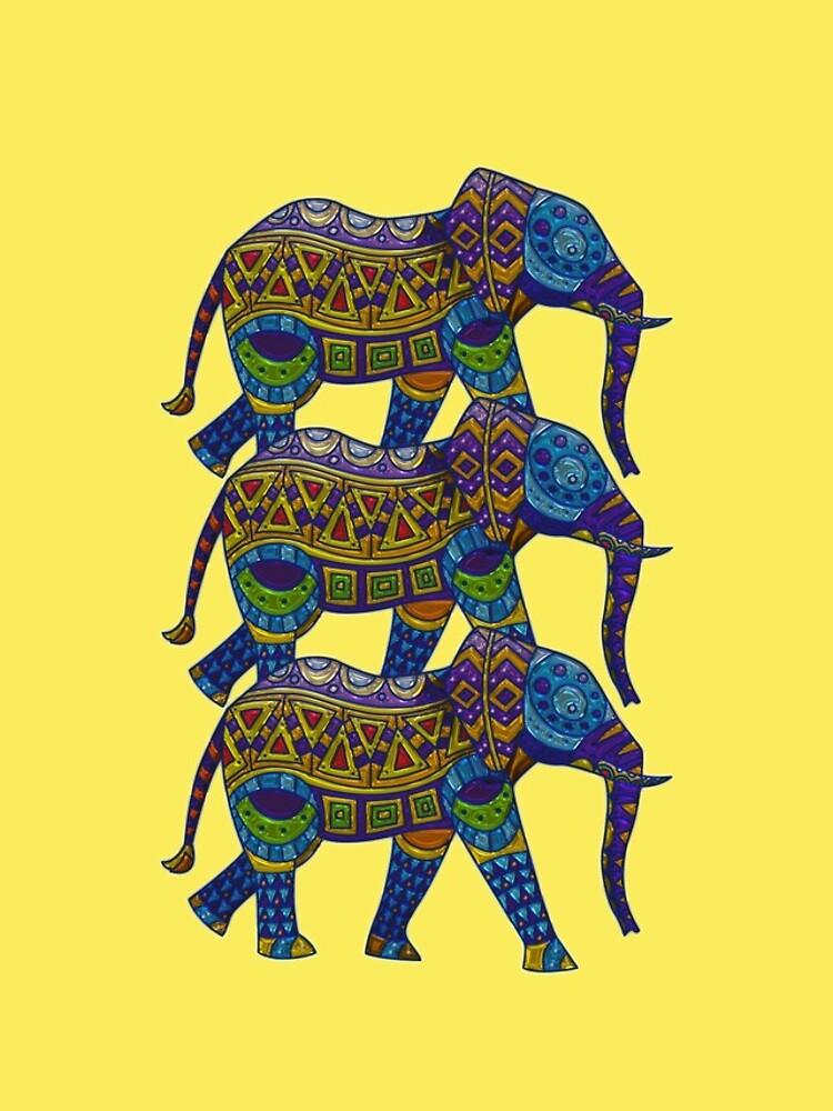 Drei bunte Mosaik-Elefanten von pjwuebker