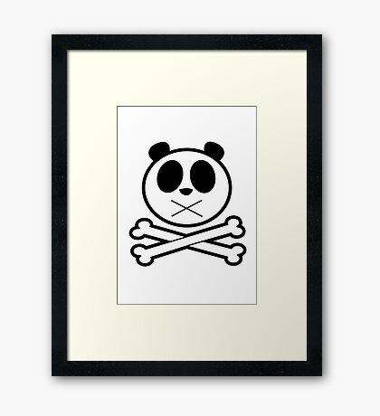 Panda Cross Bone Framed Print