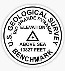 Rio Grande Pyramid, Colorado USGS Style Benchmark Sticker