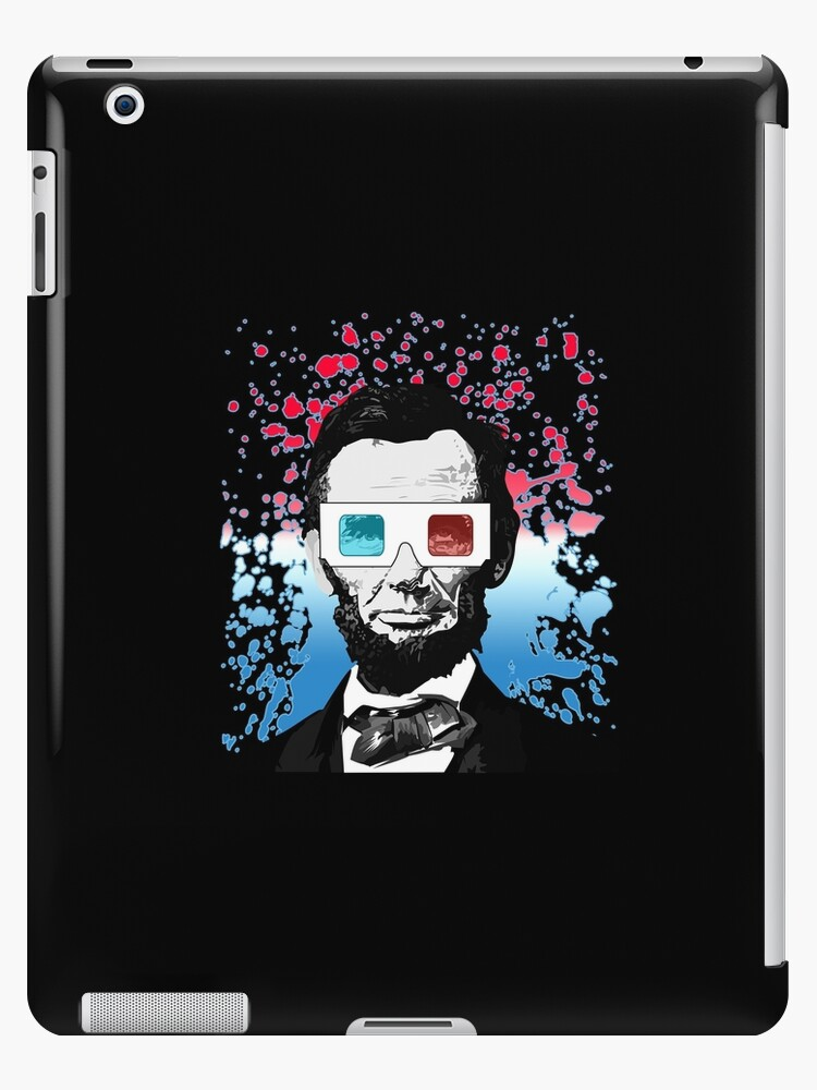Abraham Lincoln - 3D (Black) by Adam Santana
