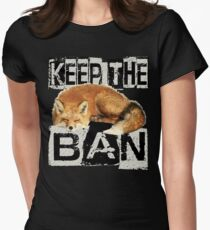 KEEP THE BAN 2 Womens Fitted T-Shirt