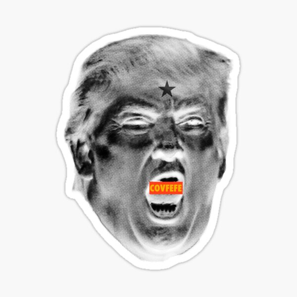 ANGRY TRUMP Negative COVFEFE Sticker