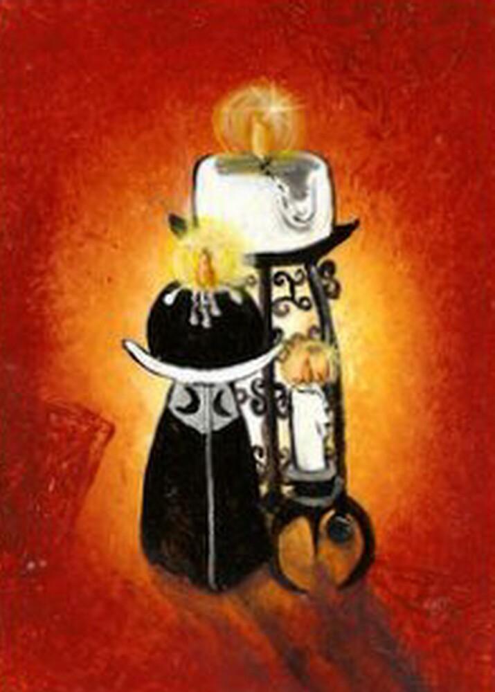Black White Candle Light by artbyskym