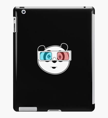 Panda - 3D Glasses (Black) iPad Case/Skin