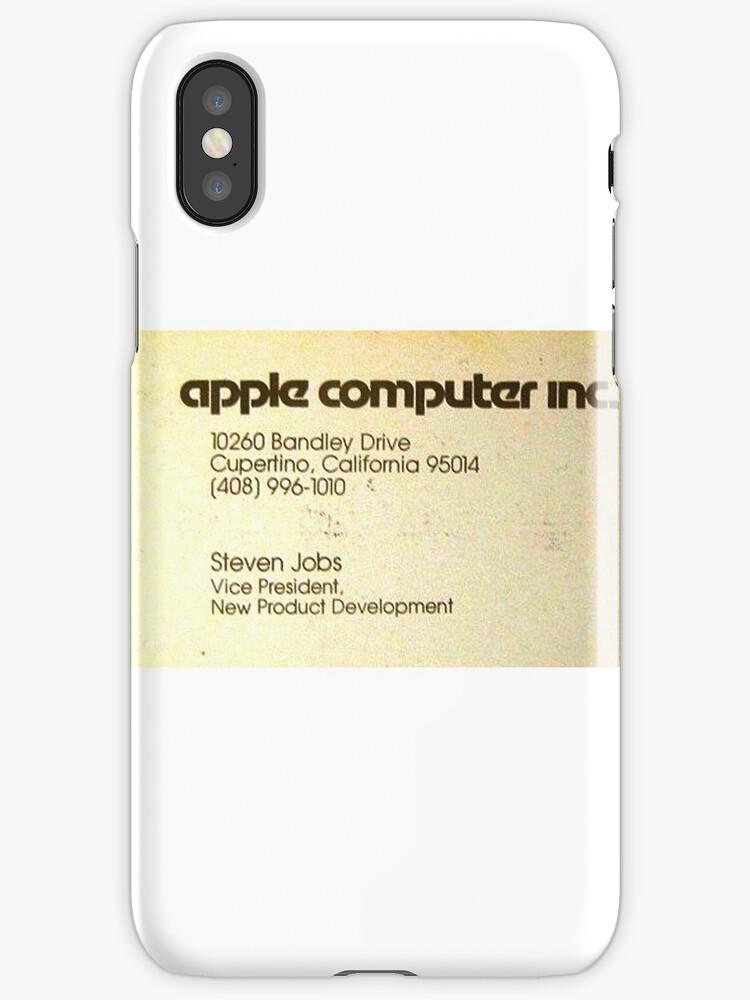 Vintage Steve Jobs Apple Business Card\
