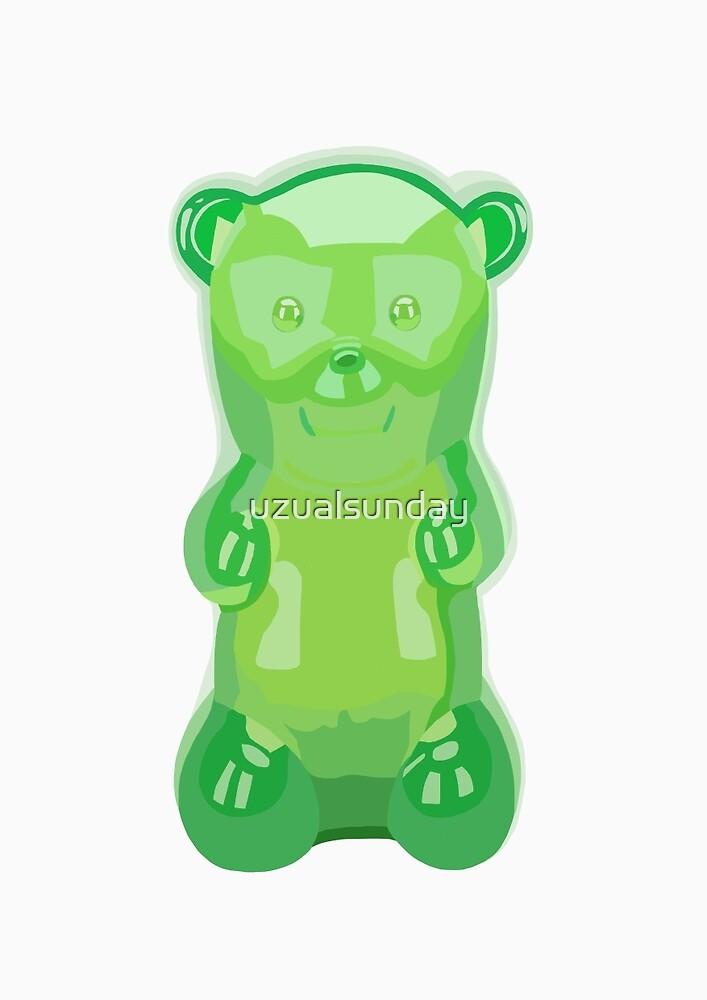Gummy bear green grape flavor by uzualsunday