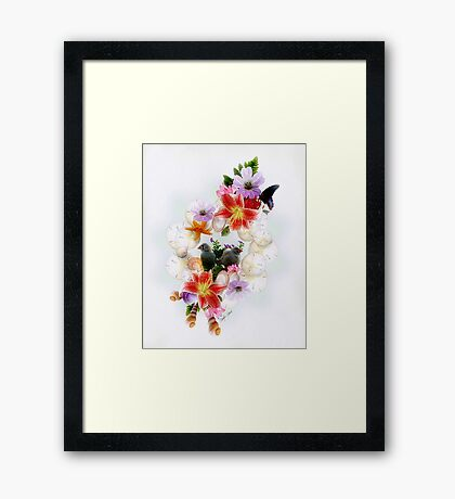 Up with the Birds Framed Print