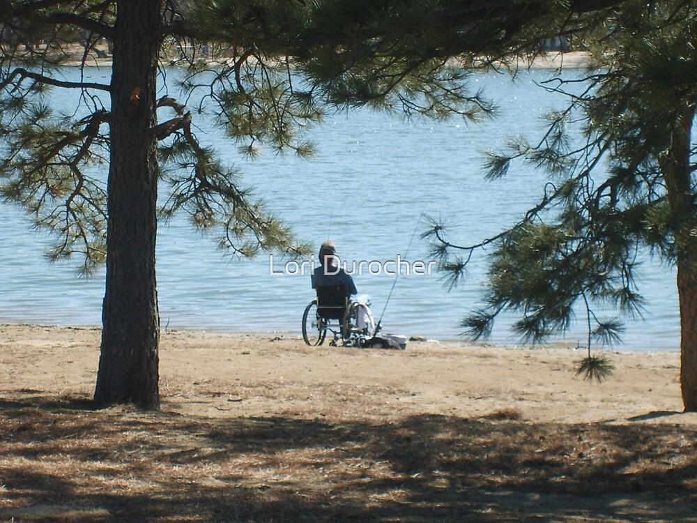 Man on the lake by Lori Durocher