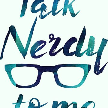 Talk nerdy to me - nerds bookworm glasses geek men by papillondesign