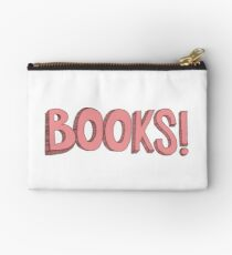 Books! in Pink Zipper Pouch