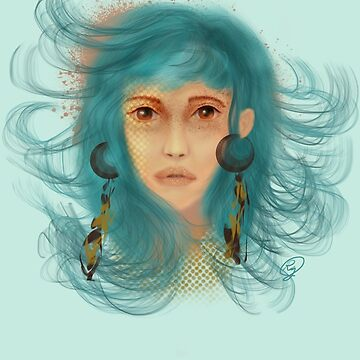 Teal haired lady by Rosedoggz
