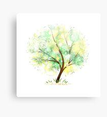 Summer tree. Mandalas and sunlight Canvas Print