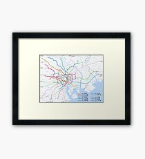 Tokyo subway metro map Framed Print