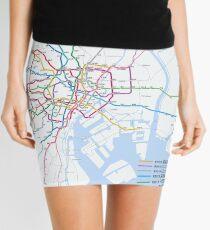Tokyo subway metro map Mini Skirt