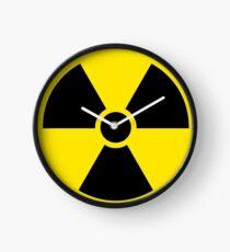 Reloj Símbolo de advertencia radiactiva