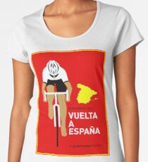 VUELTA A ESPANA: Bicycle Racing Advertising Print Women's Premium T-Shirt