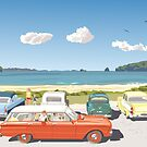 Hahei Beach, New Zealand, 1968 by contourcreative