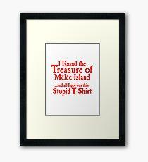 The treasure of monkey island Framed Print